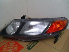 06 - 11 Honda Civic Headlight Driver 4 Door Sedan Only W/ Amber Corner Honda FEO