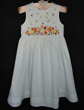 Laura Ashley vintage summer 97 cotton embroidered pinafore dress size 8 years