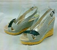 Bumper Women Wedge Sandals Shoes Size 7