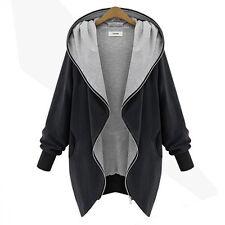 Women Casual Hoodie Sweatshirt Jacket Coat Hooded Tops Parka Outwear Oversized