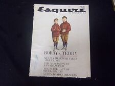 1962 APRIL ESQUIRE MAGAZINE - BOBBY AND TEDDY KENNEDY CARTOON COVER - ST 2616