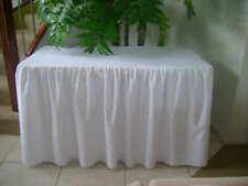 Trestle Table Cover Fitted White Gathered 4 Foot Table 1.2m Wedding Party
