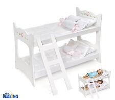 Doll Bunk Bed 18 American Girl Dolls Furniture White Mattress Ladder Bedding