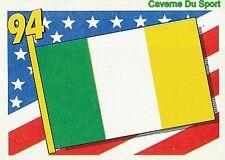 286 FLAG DRAPEAU IRELAND EIRE BLEU BACK FIGURINE VIGNETTE STICKER USA 94 BROCA
