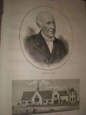 St Paul school and Nursery St Leonards-on-Sea 1874 old print ref G