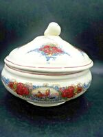 Vintage Obernai Sarreguemines Covered Casserole France French Floral Dish Bowl