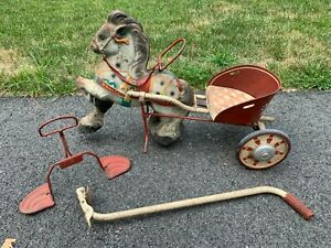 Vintage Mobo Pony Express Horse and Cart