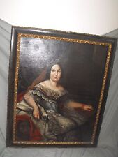 After Vicente Lopez Portana Antique Oil on Canvas Painting Portrait of a Queen
