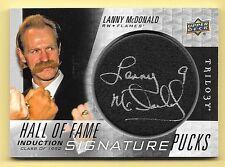 16/17 UD Trilogy Hall Of Fame Signature Pucks #LM Lanny McDonald Autograph Card