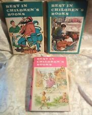 Vintage Best In Children's Books, Vol 10, 29, 42, 1958-1961, lot of 3