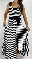 CITY CHIC Black White Striped Faux Wrap Sleeveless Maxi Dress Plus Size S AU 16