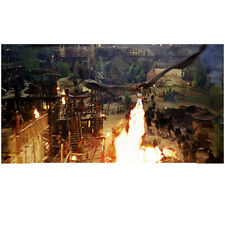 Eragon Fire Breathing Dragon Saphira Swooping Down on Village 8 x 10 Inch Photo