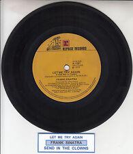 "FRANK SINATRA  Let Me Try Again 7"" 45 rpm vinyl record + juke box title strip"