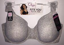 3fdb94b5fb185 Olga to a Tee Contour Bra 35145 Gray Animal Print Underwire Size 36d