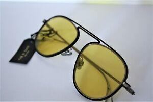 Rag and Bone Titanium Frame 55mm Yellow Lens Sunglasses RNB9003/S NEW