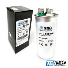 TEMCo 40+5 uf/MFD 440 VAC volts Round Dual Run Capacitor 50/60 Hz -Lot-1
