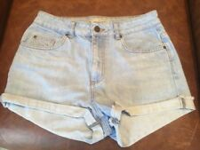 Ladies TOPSHOP MOTO W28 Blue Denim Shorts