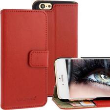 BLUMAX Ledertasche für Apple iPhone 6 Rot Bookstyle Visitenkartenfach Leder NEU