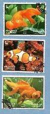 SHARJAH stamps 1972 Fish - clownfish / goldfish (3 stamps)