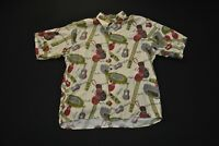 VTG Reyn Spooner Musical Instrument Hawaiian Aloha Shirt Rayon Men's Large L