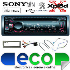Peugeot 407 Sony CDX-G1200U CD MP3 USB AUX-in Ipod Iphone Coche Radio Stereo Kit