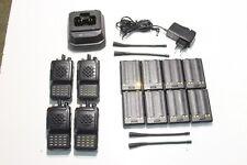 A REPROGRAMMER : Lot de 4 Radio UHF VERTEX VX-800U + 1 chargeur & 8 batteries (E