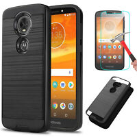For Motorola Moto E5 /E5 Play /Cruise/Go /Plus Case +Tempered Glass Protector