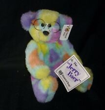 "12"" JERRY BAER WHIMSICAL BEANS CANCER TEDDY BEAR STUFFED ANIMAL PLUSH TOY W/ TAG"