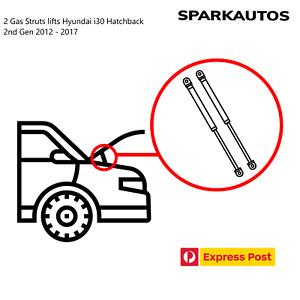 2 Gas Struts lifts Hyundai i30 Hatchback 2nd Gen 2012 - 2017
