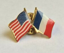 USA & FRANCE Friendship Flag Lapel pin  *MADE IN USA*  Patriotic hat tack
