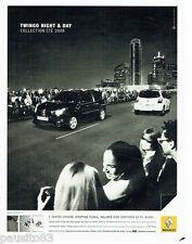 PUBLICITE ADVERTISING  016  2008  RENAULT  la Twingo Night & Day