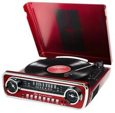 TURNTABLE INC RADIO & USB, RED, CD AND AUDIO MEDIA PLAYERS/RECORDERS FOR ION