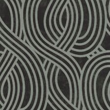 P+S Carat Vlies Tapete 13345-30 Design schwarz silber metallic