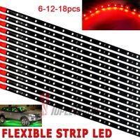 LOT DC 12V Waterproof 12''/15 Motor LED Strip Underbody Light For Car Motorcycle
