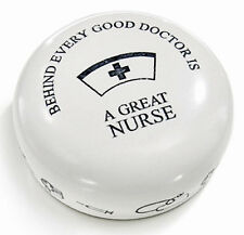 DESK ACCESSORIES - A GREAT NURSE PAPERWEIGHT - MEDICAL PROFESSION