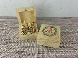 Christmas Wedding Ring Proposal Box Engagement Personalised Marry Me XMAS