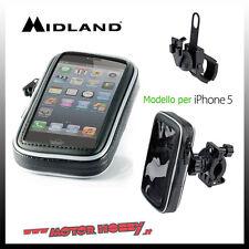 CUSTODIA MOTO PER SMARTPHONE MIDLAND MK IPHONE 5 C1103 CON STAFFE FISSAGGIO