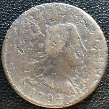 1794 Large Cent Liberty Cap Flowing Hair One Cent Better Grade Rare #7578