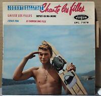 Rare EP Johnny Hallyday  Chante Les Filles Vogue 1961 - Languette + Centreur TBE
