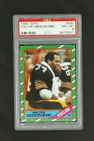 1986 Topps #283 Walter Abercrombie Pittsburgh Steelers PSA 8 NM-MT