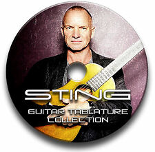 STING ROCK GUITAR TAB TABLATURE SONG BOOK SOFTWARE CD