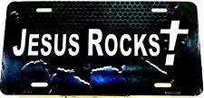 Religious license plate JESUS ROCKS Spiritual Aluminum Auto Tag New Christian