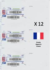 12 Etiquettes Suivi International stickers internationaux lettre suivie La Poste
