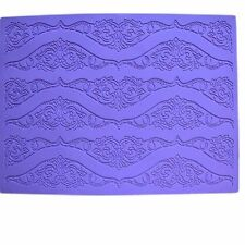 Lrge Purple Silicone Lace Mat for Edible Sugarcraft Lace, Embossed Cake, Fondant