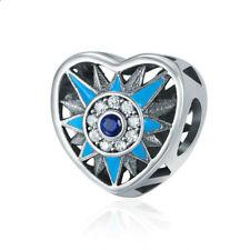 DIY 1pcs Silver European Charm Crystal Spacer Beads Fit Necklace Bracelet J010