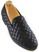 b3ab9ea8988 Steve Madden Mens Black Quilted Leather Slip On Loafer Slipper Casual Shoe  -10.5
