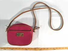 Tommy Hilfiger Womens Handbag Pink Crossbody Small Hot Pink Brown Small Purse