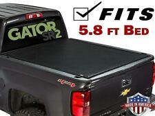 Black Roll Up Tonneau Cover For 2009-2018 Dodge Ram 1500 5.8ft Bed