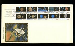 US FDC #2568-2577 /// 2577a Colorano 1991 CA Space Planets Unfolded Booklet BP