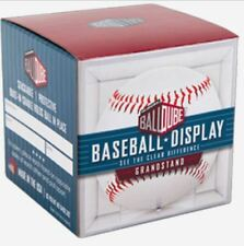 BallQube Grandstand Baseball Holder Cube Display w Built in Stand Crystal Clear